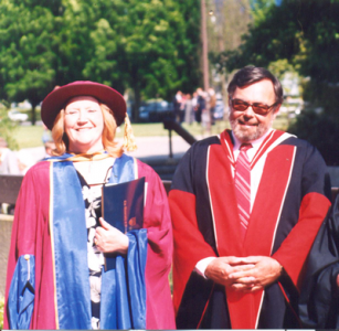 Dr. Ann Hawson and supervisor Dr. Stephen Carey